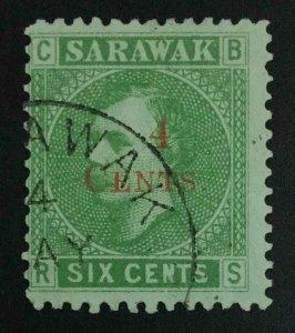 MOMEN: SARAWAK SG #34 1899 USED £120 LOT #63583