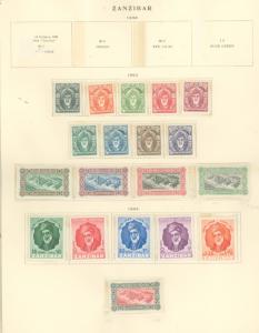Zanzibar 230-248 Mint VF NH 244-8 H, 247 cr)