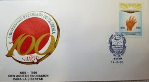 L) 1986 COLOMBIA, UNIVERSITY EXTERSHIP OF COLOMBIA, 100 YEARS OF EDUCATION FOR