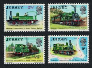 Jersey Early Locomotives Rail History 1st series 4v SG#93-96