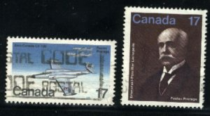 Can #873,877   -2     used VF 1980 PD