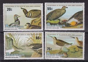 PENRHYN ISLANDS 1985   S G 373 - 376  JOHN AUDUBON  BIRDS   M / N / H