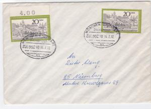 Germany Munich 1972  Bahnpost railway  zug stamps cover r20108
