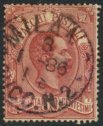 ITALY 1884-86 50c Claret PARCEL POST STAMP Sc Q3 VFU