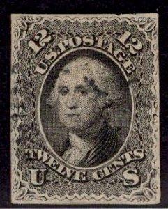 US Stamp #69 USED SCV $95. Perfs trimmed