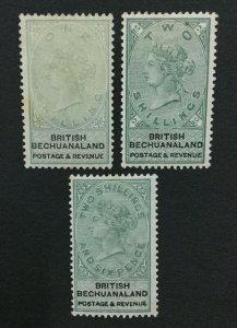 MOMEN: BECHUANALAND SG #15-17 1888 MINT OG H LOT #192430-1284