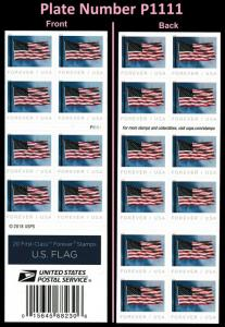 US 5344a Flag forever booklet APU P1111 (20 stamps) MNH 2019