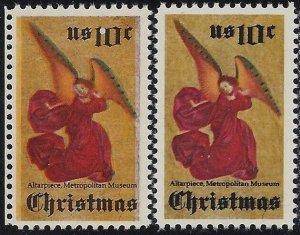 1550 - 10c Color Shift Error / EFO Christmas Angel Mint NH