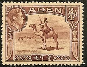 Aden  17 Mint OG 1939 3/4a Camel Corpsman