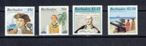 BARBADOS - 2001 - GEORGE WASHINGTON'S VISIT - SCOTT 1010 TO 1013 - MNH