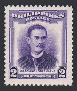 Philippines 601,lightly hinged.Michel 556. Graciano L.Jaena,1952.