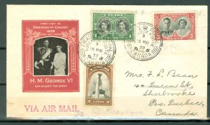 CANADA 1939 PRE-WAR ROYAL VISIT #246-48 ...SET on VERY NICE FDC