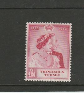 Trinidad & Tobago 1948 Wedding $4.80 MM SG 260, see note