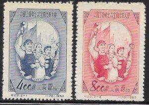 People's Republic of China 185-186 Unused/NGAI - Labor Day