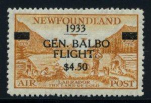 NEWFOUNDLAND: Sc.#C18  **  $4.50 BALBO, STUNNING CHOICE Never Hinged example,...