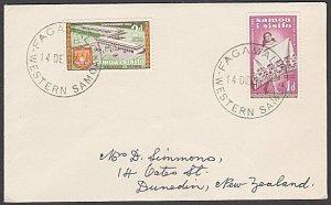 SAMOA 1962 cover to NZ - FAGAMALO cds.......................................B126