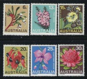 Australia 1968 State Flowers set Sc# 434-39 NH