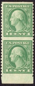 US Stamp #538a Vertical Pair, Imperf Horizontal MINT Hinged  SCV $60