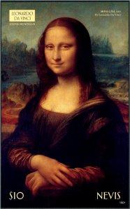 2020 Nevis Leonardo Da Vinci Painting Mona Lisa SS (Scott NA) MNH