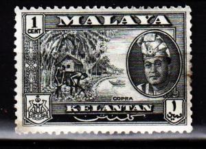 Malaya - Kelantan - #84 Copra/ Sultan Petra - Used