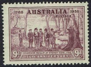 AUSTRALIA 1937 NSW 150TH ANNIVERSARY 9D MNH **