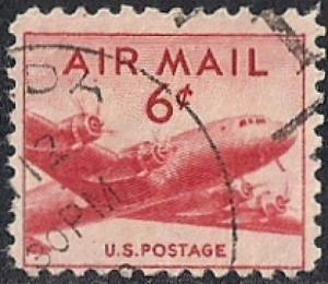 C39 6 cents DC-4,  Stamp used F