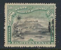 North Borneo SG 108  SC#87 Used  perf 16  see details & scans