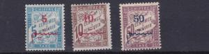 FRENCH COLONIES  MORROCO 1911  SG D40 - D42   POSTAGE DUE  SET OF 3  MH  CAT £45