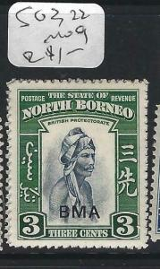NORTH BORNEO  (P2102B)  3C  MAN  BMA     SG 322       MOG