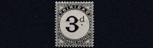 TRINIDAD  1905 - 06  SG   D12  3D    SLATE BLACK  MH