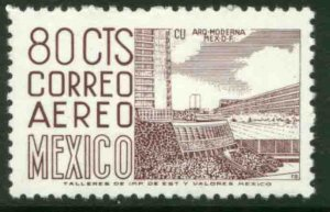 MEXICO C265c, 80c 1950 Def 8th Issue Fosforescent glazed MINT, NH. VF.