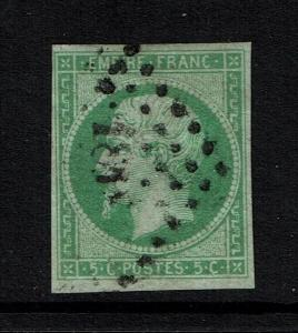 France SC# 13, Used, Center thin - Lot 080217