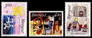 Faroe Islands #145-147 Fa138-140 MNH CV$5.55