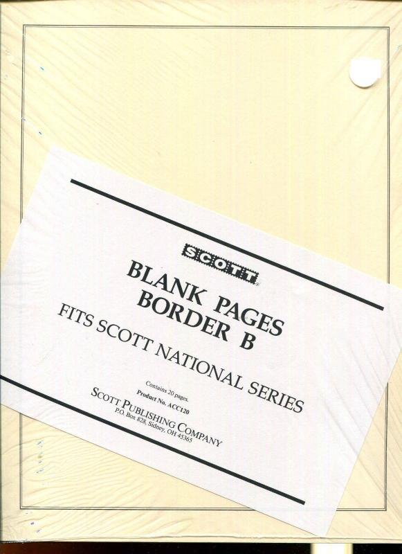Scott National Series Blank Pages NEW Sealed Package of 20 ACC120 Border B