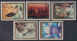 French Polynesia 1974 SC C107-C111 Set Art MNH