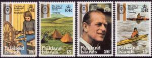 Falkland Islands 1981 25th Anniversary of Duke of Edinburgh Award Set of 4 MNH