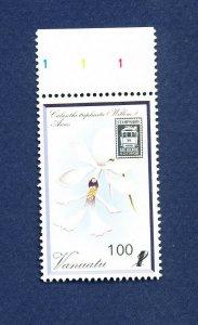 VANUATU - Scott 512 - FVF MNH - Flowers, StampShow89 - - 1989
