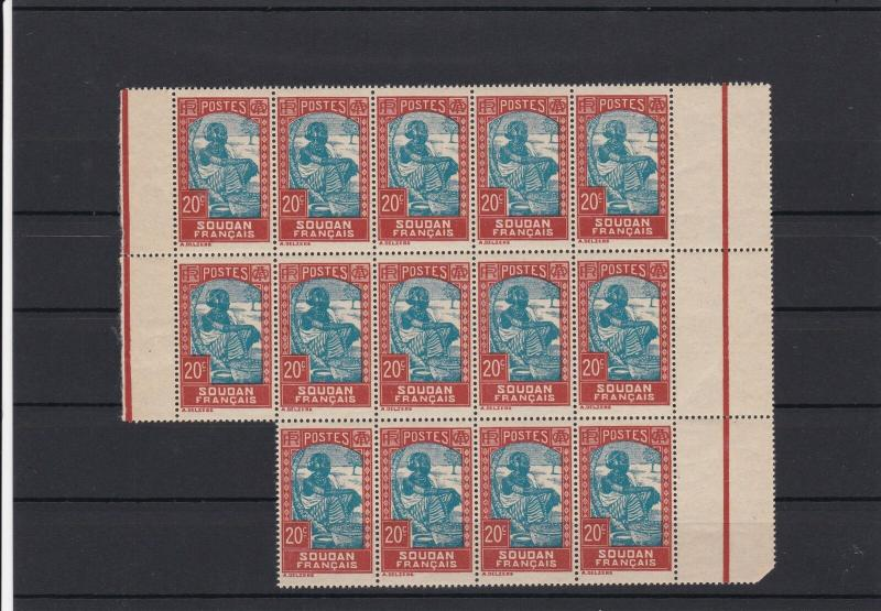 French Sudan Mint Never Hinged Stamps Block ref R 18385