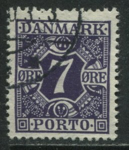 Denmark 1930 7 ore Postage Due used