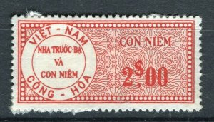 VIETNAM; Early CONG-HOA revenue issue Mint unused $2. value ( paper adhesion)