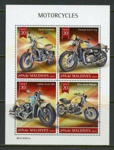 MALDIVES 2019  MOTORCYCLES   SHEET   MINT NH