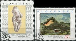 Slovakia. 2006. Works of art (CTO) Set of 2 stamps