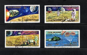 Cook Islands, Scott 319-322,   VF,  Used,  Lunar Rover, Moon   ........ 1500135