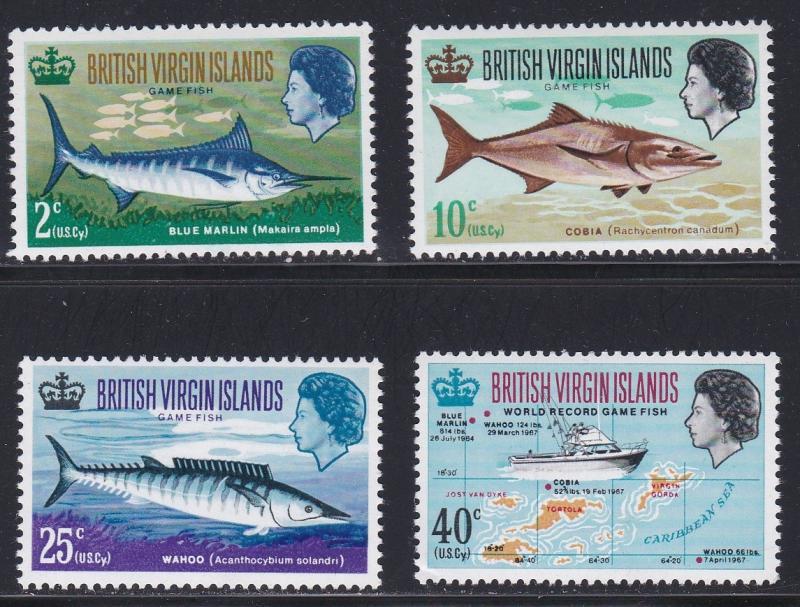 Virgin Islands MNH 186-9 Game Fishing