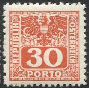 AUSTRIA 1945  Sc J183 30g Postage Due MNH  VF