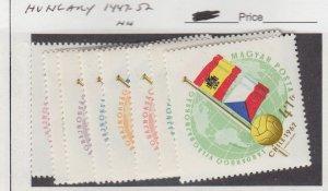 J25855  jlstamps 1962 hungary set mnh #1447-52,b224,c209a flags all checked