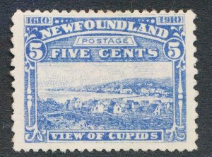 NEWFOUNDLAND 91 MINT F-VF HINGED 5c VIEW OF CUPIDS