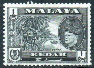 Kedah 1957 1c Copra MH