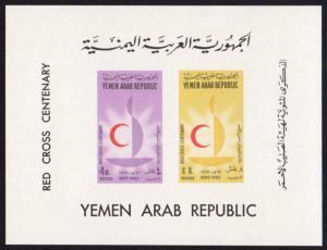Yemen/YAR Mi Block 18 (#313-314)  mnh s/s - 1963 Red Cross Centenary