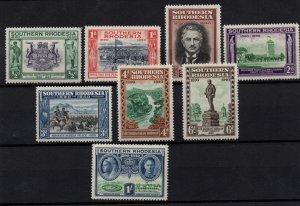 Southern Rhodesia 1940 Jubilee LHM set SG53-60 WS22546